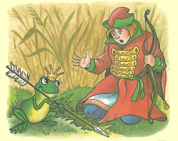 Анекдоты про ивана-царевича и царевну-лягушку.