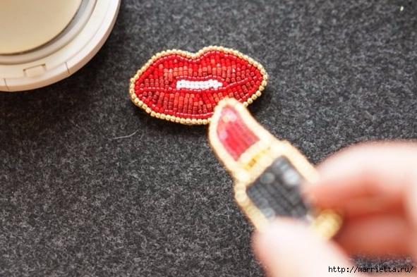 Интересные броши из фетра с вышивкой бисером (16) (591x393, 172Kb)
