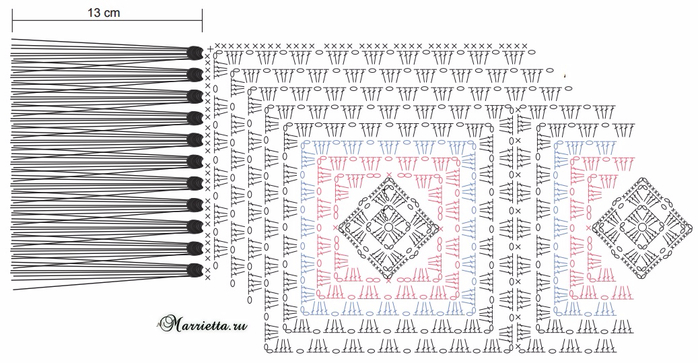 Элегантный плед крючком бабушкиными квадратами (5) (700x363, 232Kb)