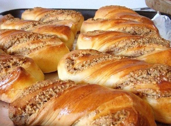 булочки с ореховой начинкой - Самое интересное в блогах
