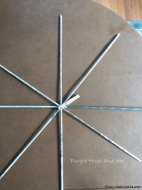 Плетение из газет корзинки-паутинки. Фото мастер-класс (5) (480x640, 171Kb)