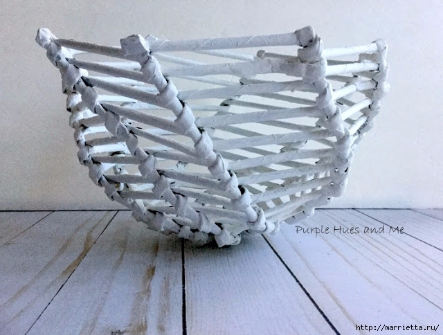 Плетение из газет корзинки-паутинки. Фото мастер-класс (19) (640x484, 196Kb)