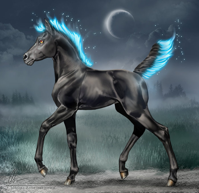 Аниме картинки про лошадей