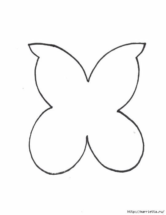Порхающие фетровые бабочки - мобиль для детской кроватки (4) (540x700, 47Kb)