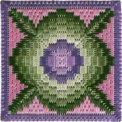 Флорентийская вышивка в технике барджелло (2) (400x401, 193Kb)