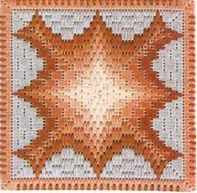 Флорентийская вышивка в технике барджелло (9) (400x393, 199Kb)