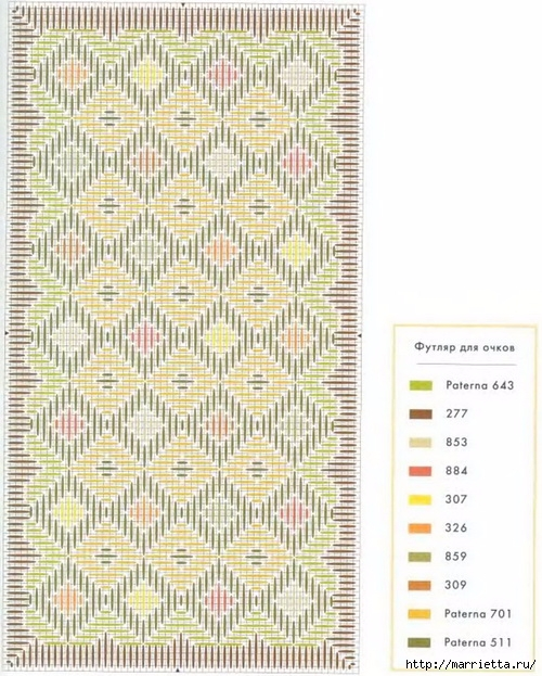 Флорентийская вышивка в технике барджелло (11) (500x623, 251Kb)