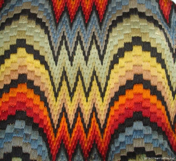 Флорентийская вышивка в технике барджелло (19) (700x640, 427Kb)