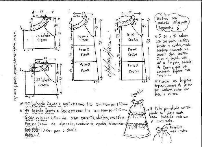 Выкройка воздушного летнего платья для девочки (3) (699x508, 230Kb)