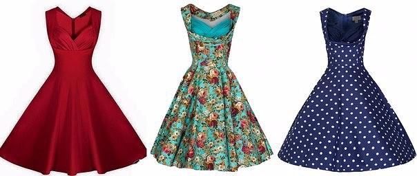 Платье в стиле ретро (604x256, 155Kb)