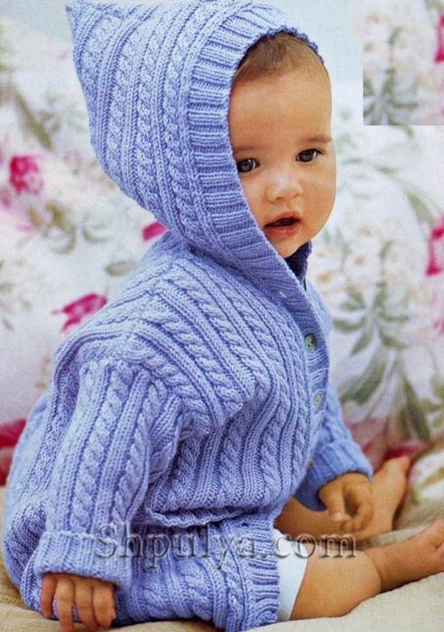 вязание детям от 0 до 3 лет с описанием спицами самое интересное в