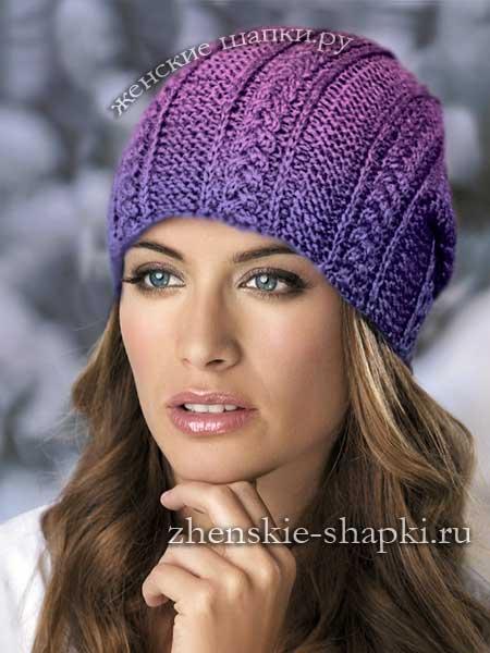вязание шапки спицами для женщин с описанием обсуждение на