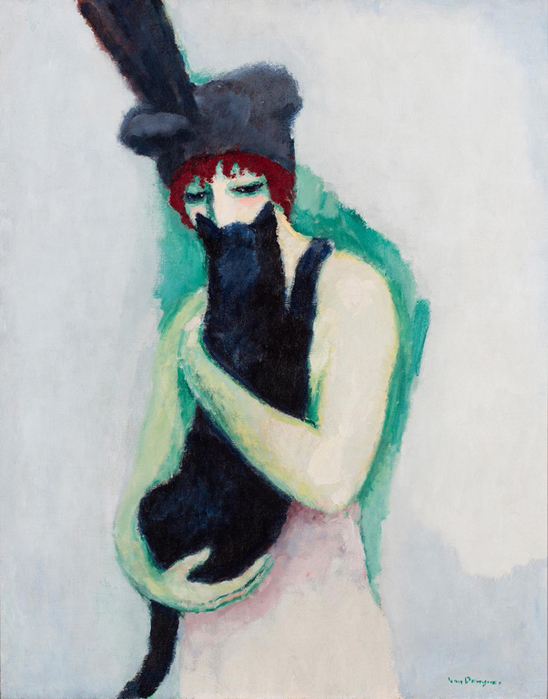 Kees-van-Dongen-•-Woman-with-Cat-•-1908-•-oil-on-canvas-milwaukee-art-museum (548x700, 324Kb)