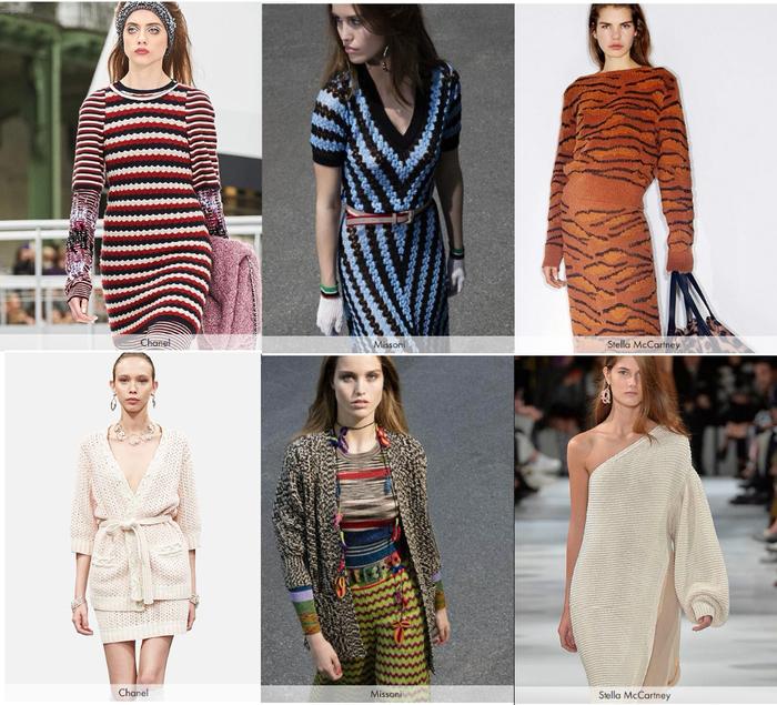 вязаная мода 2018 платья юбки жакеты подборка обсуждение на