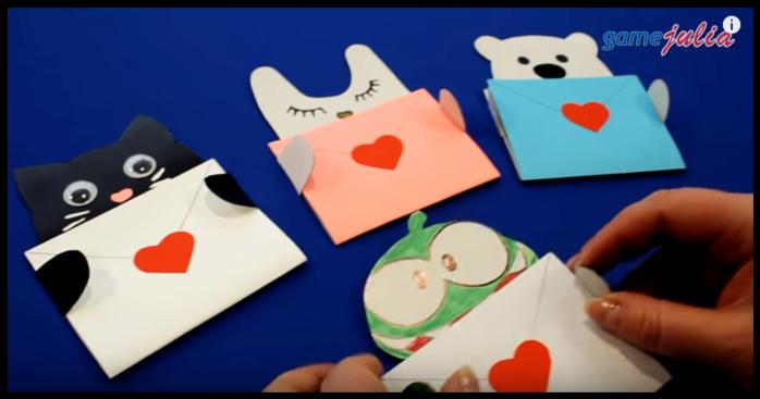 Открытки и конверты своими руками уроки видео