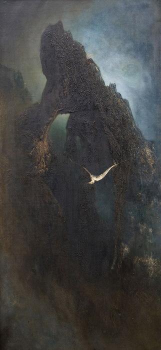1901 Чайка над скалой. Капри. (322x700, 69Kb)