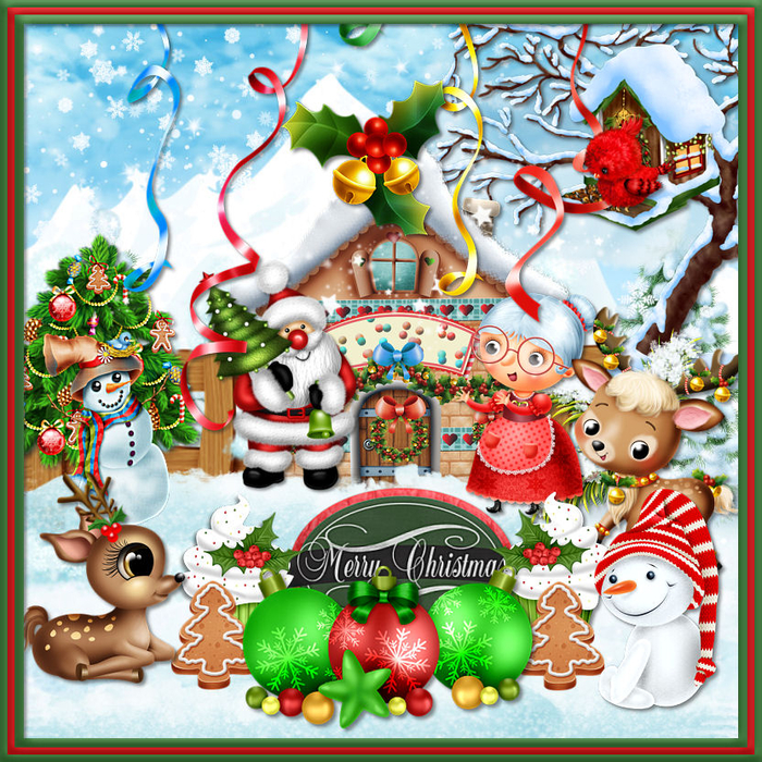 Collage Merry Christmas (700x700, 762Kb)