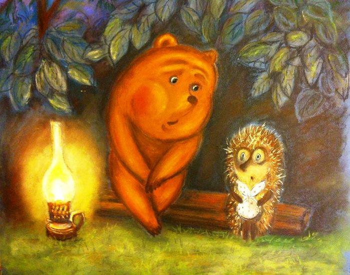 Картинки медвежонок и ежик, картинки надписями поздравительные