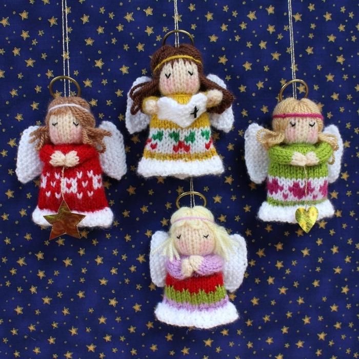 Рождественские ангелочки от Knitting Patterns. Без описания