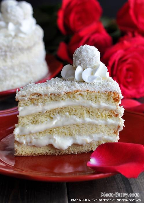 Торт «Rafaello» — такой же вкусный, как конфеты