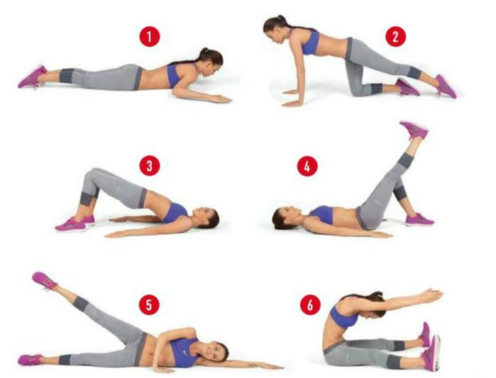 картинки с упражнениями для живота