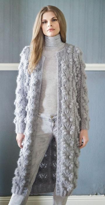 Вязаное пальто Mohairnuovo от Lana Grossa