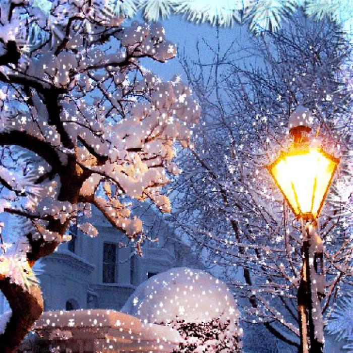 Край открытки, новогодние открытки с анимацией падающего снега