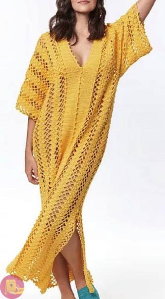 Очень красивое платье-туника крючком