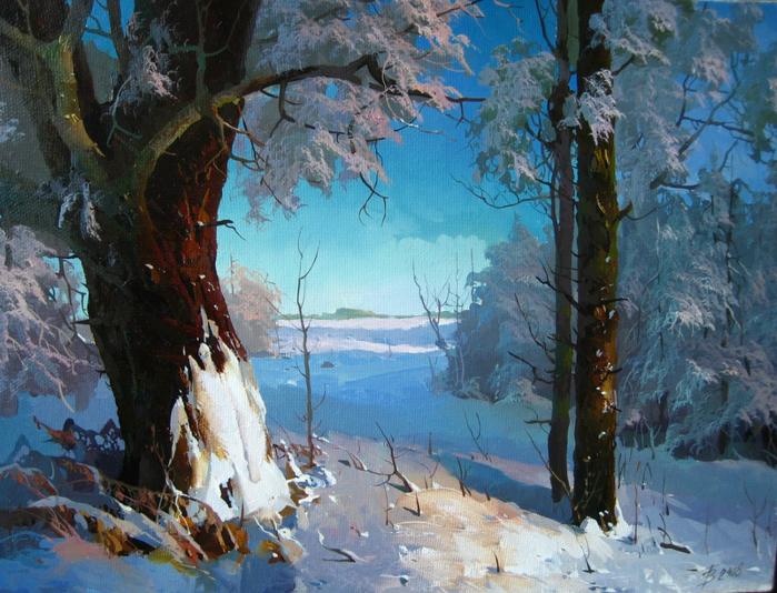 Творчество современного художника пейзажиста Виктора Быкова