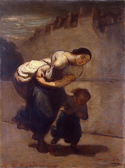 Honore Daumier - Burden (520x700, 131Kb)