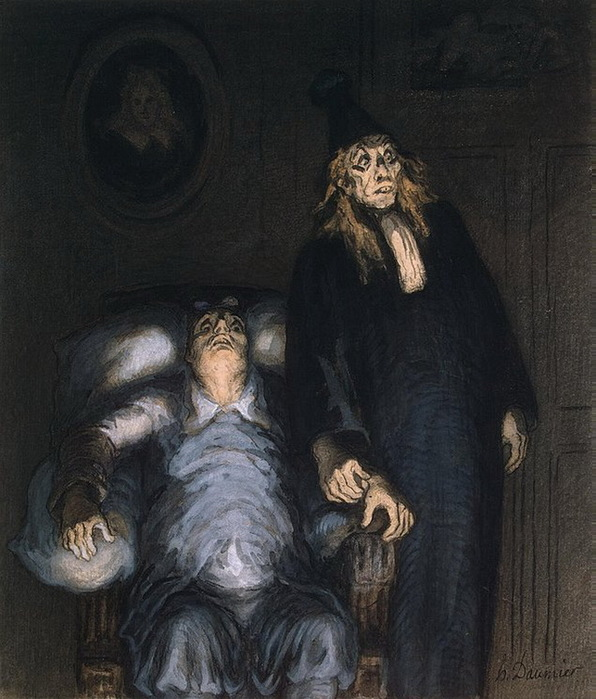 Honore Daumier - Supposed-Invalid 1857 (596x700, 133Kb)