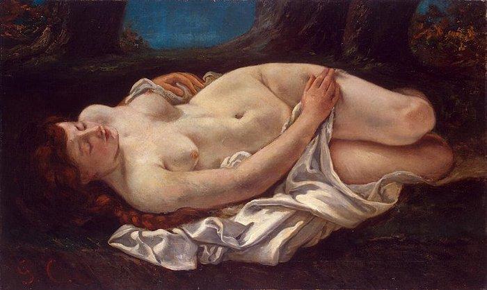 Gustave Courbet - Reclining-Woman 1865-1866 (ЧС Бернард Колер) стр. 39 (700x418, 59Kb)