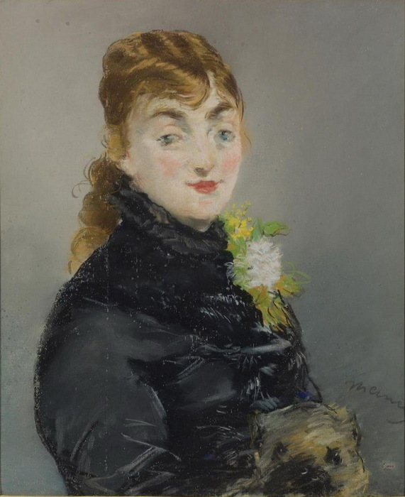 1882 Портрет Мэри Лоран с моськой. Х паст 61х52 см. ГМИИ (571x700, 101Kb)