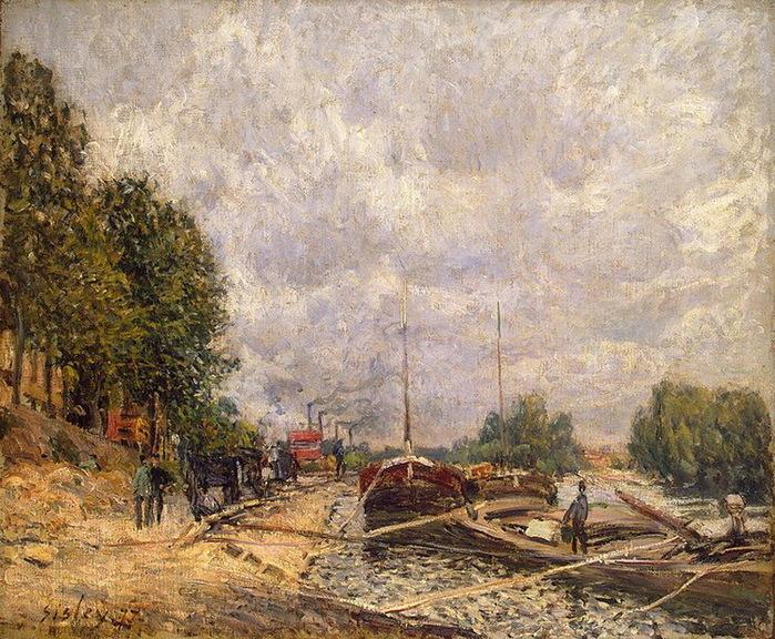 1877 Barges-at-Billancourt (с.155) (700x576, 221Kb)