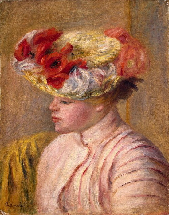 1892 Young-Woman-in-a-Flowered-Hat (с.117) (550x700, 185Kb)