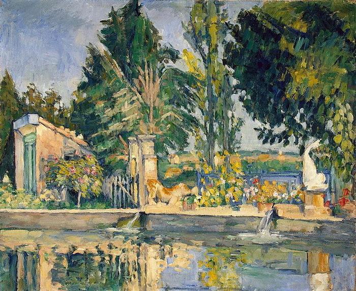 1876 Jas de Bouffan, the Pool (с.179) (700x573, 247Kb)