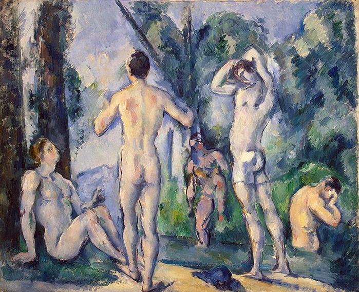 1890-1891 Bathers (с.201) (700x569, 210Kb)