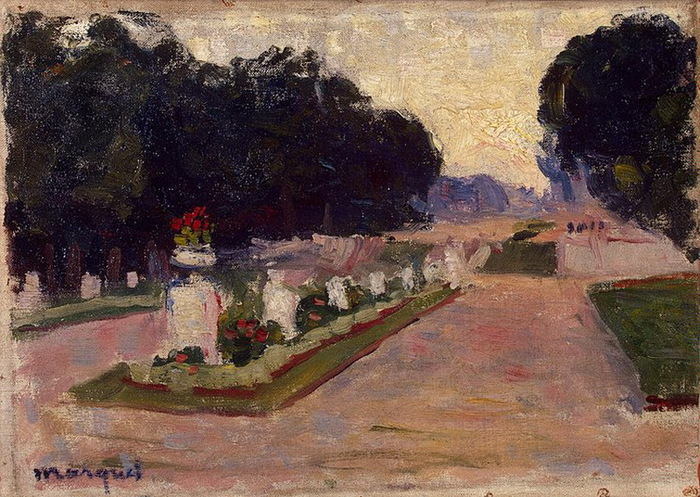 1901 Avenue in the Luxembourg Gardens (с.273) (700x497, 180Kb)