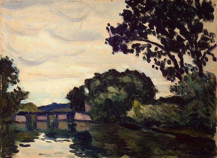 1917-1919 Landscape with a Bridge (с.277) (700x509, 175Kb)