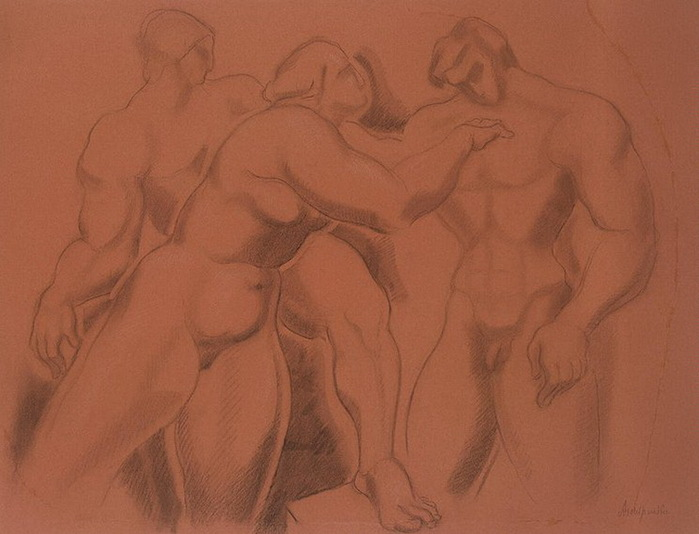 1920-е Group-of-Nude-Figures (700x534, 87Kb)