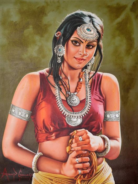 Anup Gomay - Indian artist - Catherine La Rose  (39) (526x700, 458Kb)