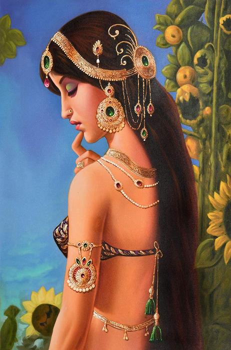 Anup Gomay - Indian artist - Catherine La Rose  (21) (462x700, 406Kb)