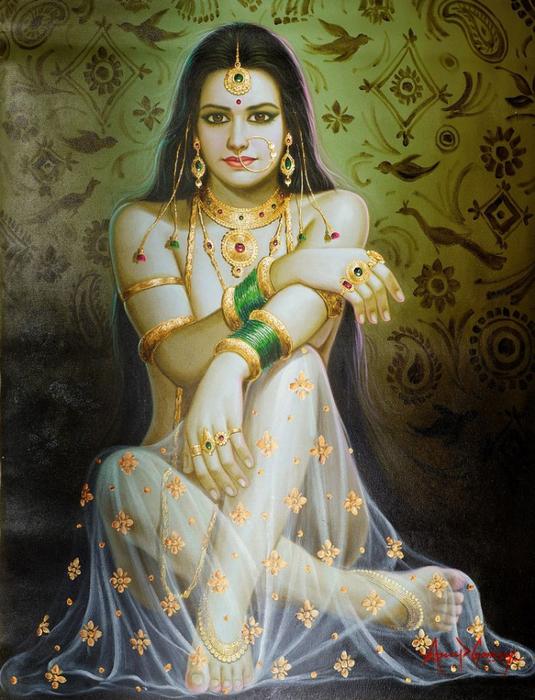 146b6654a2b07b79b35a0167857e65df--indian-paintings-beauty-art (535x700, 438Kb)