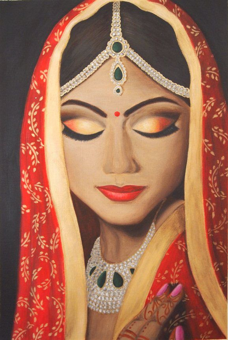 1145d88d7a92f29d2d05ae8f9eefbbab--indian-paintings-indian-bride-painting (470x700, 357Kb)