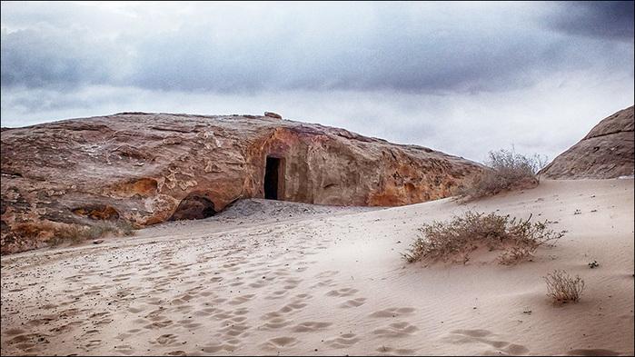Набатейское жилище в пустыне Вади Рам
