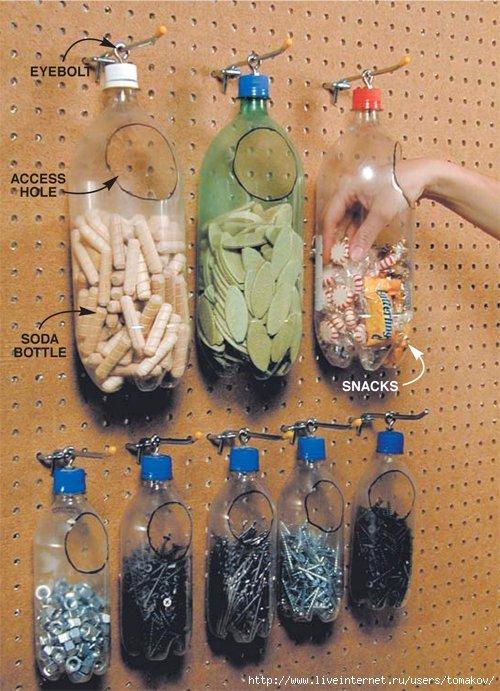Лайфхак как использовать пластиковую бутылку, что делать с платиковыми бутылками,
