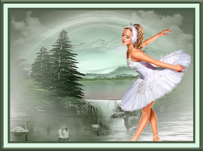 Collage Mountain Swan Lake (700x520, 475Kb)