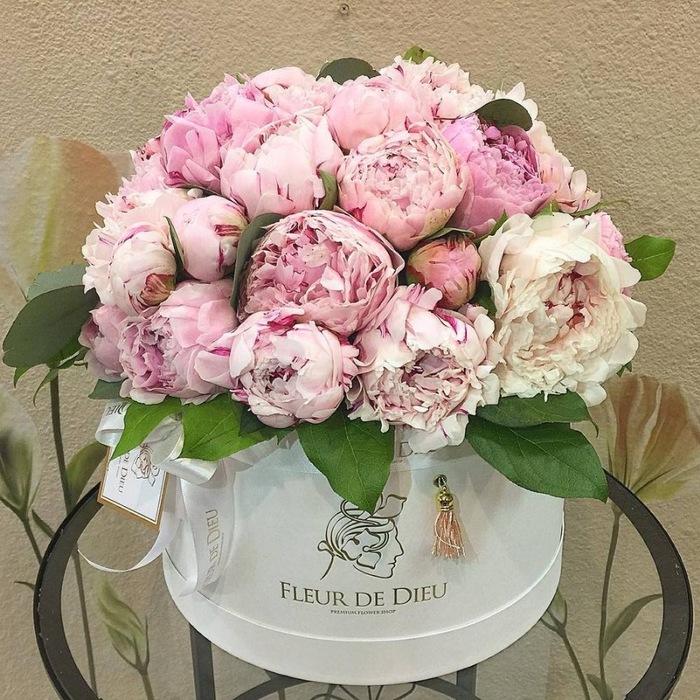 Открытки с днем рождения женщине цветы пионы в коробке, рождения мужчина лет
