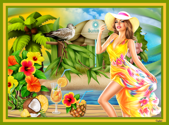 Collage Tropical Summer  (700x518, 525Kb)