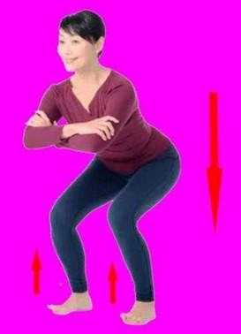 Восстановительное упражнение Цурай при усталости в ногах